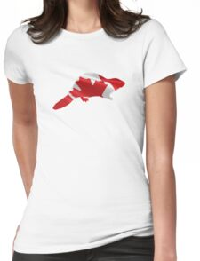 Canadian Beaver  Womens Fitted T-Shirt