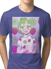 Strawberry Kiwi Tri-blend T-Shirt