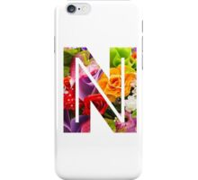 The Letter N - Flowers iPhone Case/Skin