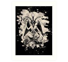 Baphomet - bleached (creme white) Art Print