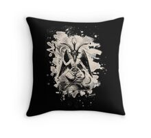 Baphomet - bleached (creme white) Throw Pillow