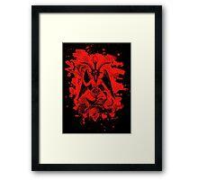 Baphomet bleached - red Framed Print