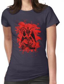 Baphomet bleached - red Womens Fitted T-Shirt