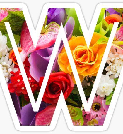 The Letter W - Flowers Sticker