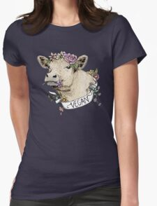 Daisy Vegan Womens Fitted T-Shirt