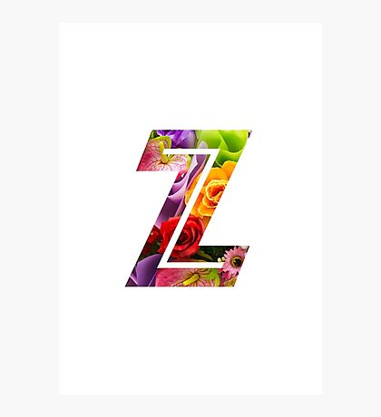 The Letter Z - Flowers Photographic Print