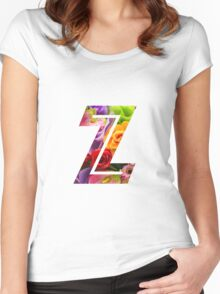 The Letter Z - Flowers Women's Fitted Scoop T-Shirt