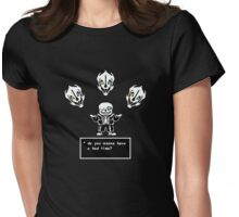 Sans, Master Gaster Blaster Caster Womens Fitted T-Shirt