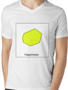 HAPPINESS Mens V-Neck T-Shirt