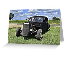 IVÉ GOT A BLACK HOT ROD Greeting Card