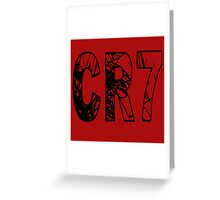 CR7 Cristiano Ronaldo 7 Greeting Card