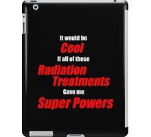 Radiation Treatments Red iPad Case/Skin