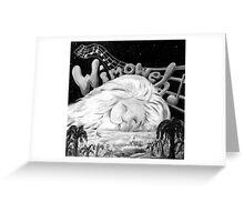 """""""Wimoweh"""" (The Lion Sleeps Tonight) Greeting Card"""