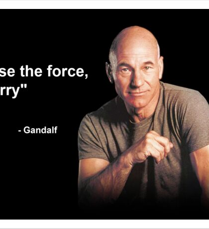 """""""Use the force, Harry"""" - Gandalf Sticker"""