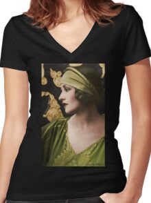 Natacha Rambova  Women's Fitted V-Neck T-Shirt