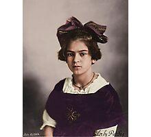 Frida Kahlo Age 12 Photographic Print