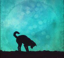 Dog silhouette by Priska Wettstein