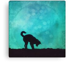 Dog silhouette Canvas Print