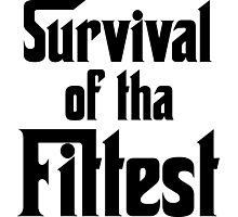 Survival of Tha Fittest - Black Photographic Print
