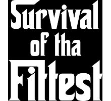 Survival of Tha Fittest - White Photographic Print