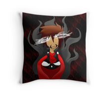 Herobrine bust Throw Pillow