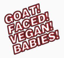 Daniel Bryan's Goat Faced Vegan Babies Kids Tee