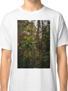 Leaves and Red Berries Classic T-Shirt