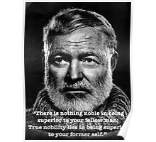 Hemingway quote Poster
