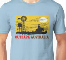 Outback Australia stockman and windmill design Unisex T-Shirt