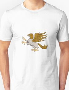 Hippogriff Prancing Side Isolated Cartoon Unisex T-Shirt