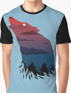 Scary howling wolf Graphic T-Shirt