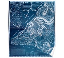 American Revolutionary War Era Maps 1750-1786 226 A plan of the city of New York & its environs to Greenwich on the North or Hudsons River and to Crown Point Inverted Poster