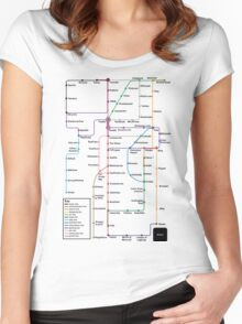 Internet Map Women's Fitted Scoop T-Shirt