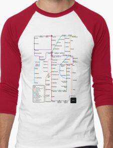 Internet Map Men's Baseball ¾ T-Shirt