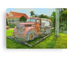 VINTAGE TRUCKS & CARS Canvas Print
