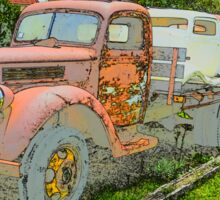 VINTAGE TRUCKS & CARS Sticker