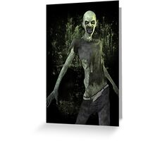 Scary Zombie T Shirt Greeting Card