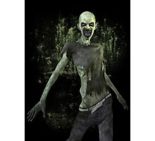 Scary Zombie T Shirt Photographic Print