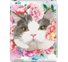 Cat with Flower iPad Case/Skin