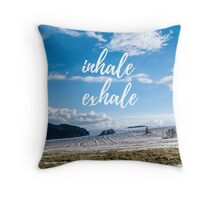 Inhale/Exhale Throw Pillow