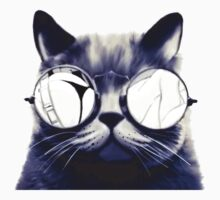 Vintage Cat Wearing Glasses Kids Tee