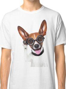 Dog Wearing Glasses 1 Classic T-Shirt