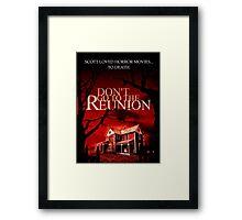 Slasher Studios - Don't Go to the Reunion Merchandise (Early Poster Design) Framed Print