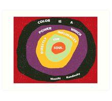 Kandinsky's Quote on Color Art Print