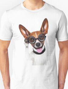 Dog Wearing Glasses 2 Unisex T-Shirt