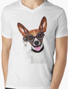 Dog Wearing Glasses 2 Mens V-Neck T-Shirt