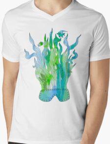 Psychedelic underwater snorkelling mask landscape Mens V-Neck T-Shirt