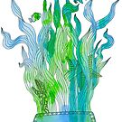 Psychedelic underwater snorkelling mask landscape by Andrei Verner
