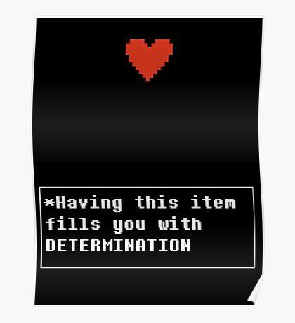 Determination - Item Poster