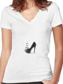 Girls best friend shoe Women's Fitted V-Neck T-Shirt